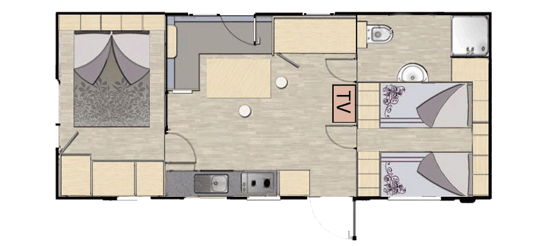 Murano 3 Bedroom Mobile Home at Union Lido