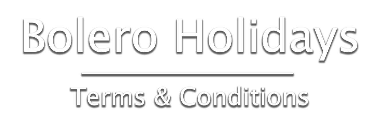 Bolero Holidays Terms and Conditions