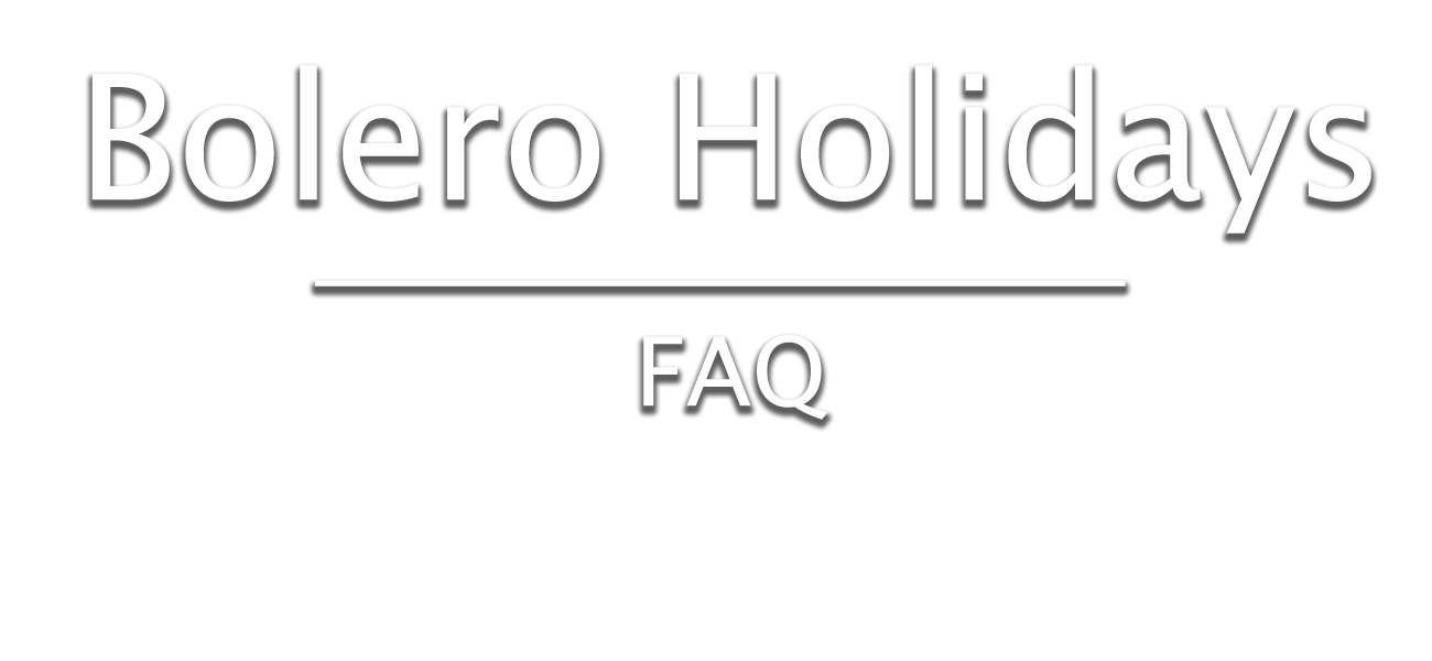 faq - bolero holidays and union lido